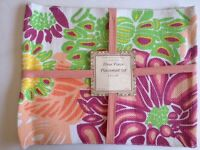 Pink Placemat Set 4 Piece Floral Tradewinds Designer Collection Cookware