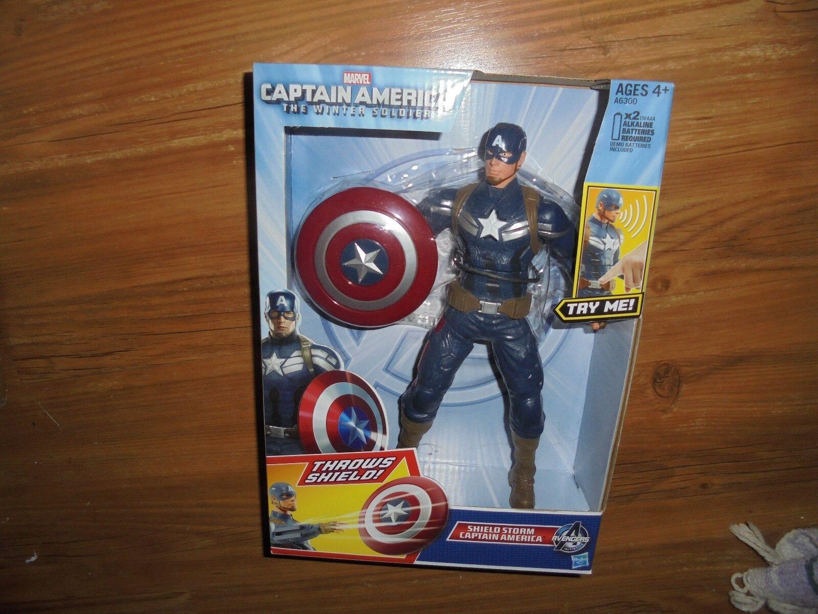 Captain America  The winter Soldier  w  Sheild Storm HASBRO 2013