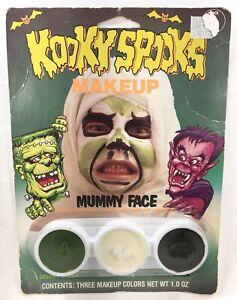 1987-KOOKY-SPOOKS-Vintage-MUMMY-FACE-Make-Up-Kit-MOC-Sealed-Frankenstein-Wolfman