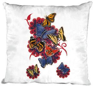 Sofa-Decorative-Cushion-White-40-x-40-cm-Animal-Print-Butterfly-09842-1