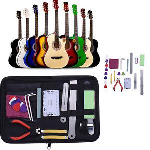 8 pcs full set musicians guitar care kits repair maintenance tech tools with bag ebay. Black Bedroom Furniture Sets. Home Design Ideas