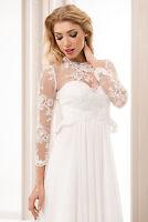 Bridal Ivory/white Lace Bolero Shrug Wedding Jacket Corset S M L Xl