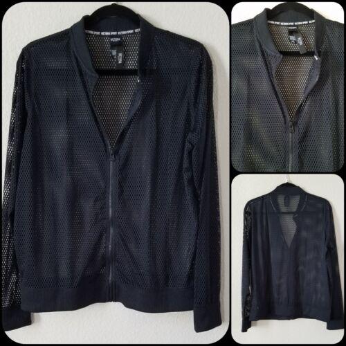 VICTOTIA/'S SECRET Bomber Jacket Size LARGE Victoria Sport *NWT*Very Classy*Black