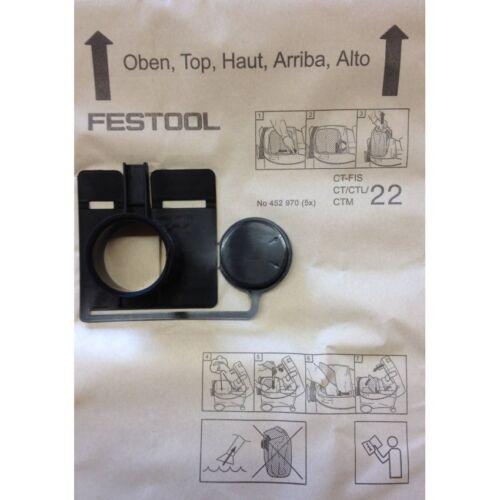 Festool original Filtersack Filtertüten FIS-CT 22 CT 11 5er Pack 452970