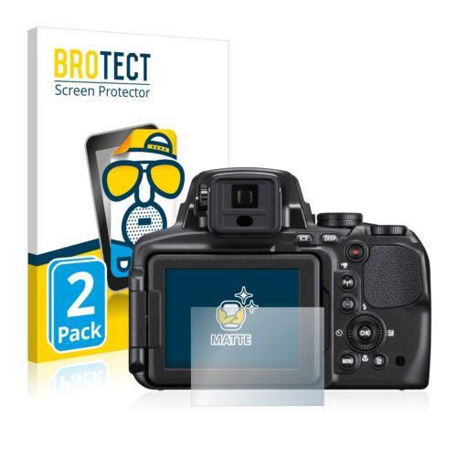2x láminas protectoras de pantalla para Nikon Coolpix p900 mate antirreflejos