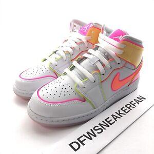 Nike Air Jordan Retro 1 Mid Se Gs Size 4 5y Women S 6 Shoes Cv4611 100 Ebay
