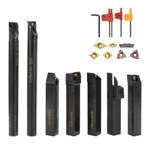 7PCS 16mm Insert Wrench Set Metal Steel Lathe Boring Bar Holder TurningTool L1K7