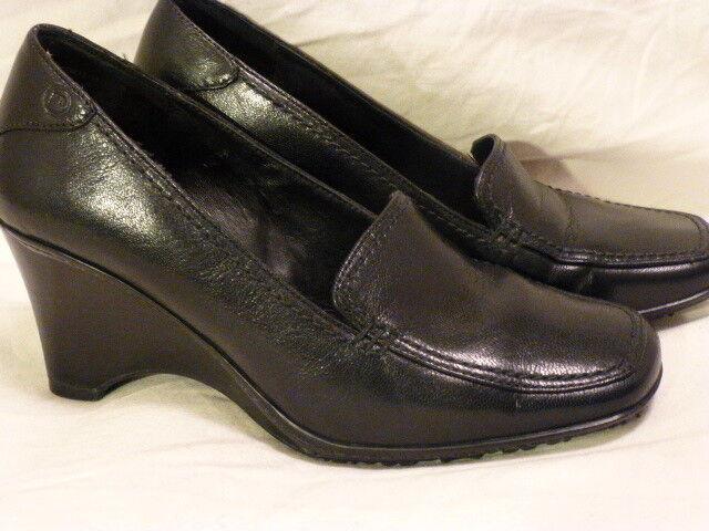 nuovo stile ROCKPORT nero Leather Loafer Pumps Wedge High Heels Heels Heels donna scarpe 5M SInnovation  consegna veloce e spedizione gratuita per tutti gli ordini