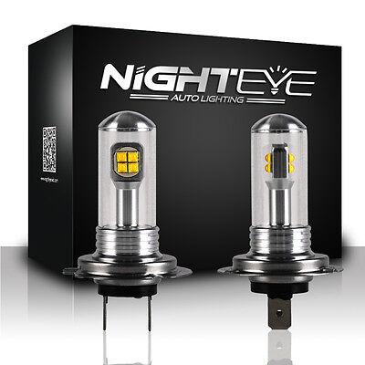 NIGHTEYE LED H7 80W LED DRL LAMPADINA AUTO BIANCO LAMPADINE FENDINEBBIA/DRIVING