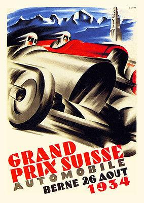 1930 Algerian Grand Prix Motor Racing Poster A3 A2 Print