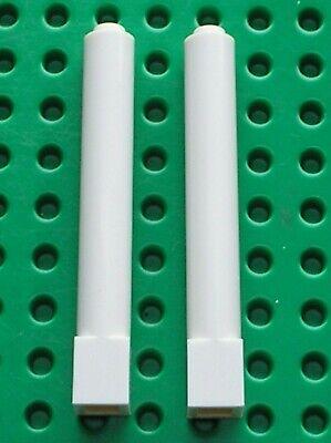 2 X Lego White Brick Round 43888 / Set 21020 41196 41338 41314 41152 70657 41347 Comodo E Facile Da Indossare
