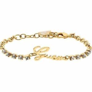 GUESS-BRACCIALE-DONNA-UBS21502-S-oro-gold-dorato-cristalli-originale-elegante