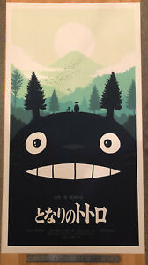 Olly-Moss-Mondo-My-Neighbor-Totoro-Variant-Print-20-034-x36-034-MINT-CONDITION