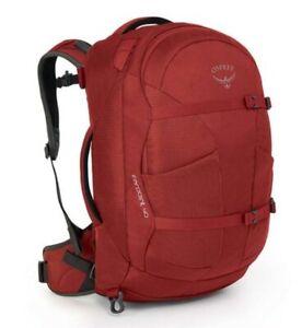 Osprey Farpoint 40L Ultralight Travel Backpack & Daypack - Jasper Red - M/L