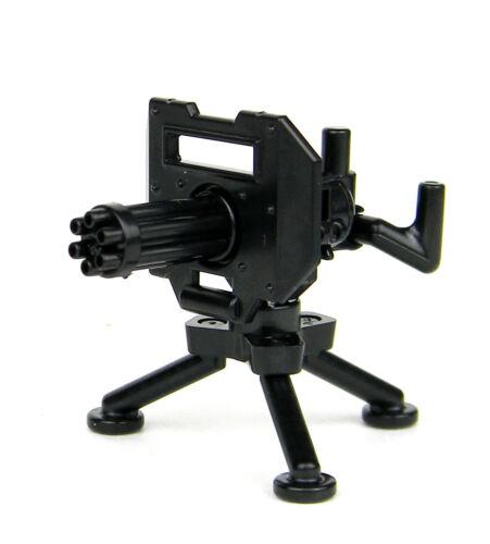 Minigun With Tripod (W227) Mount Machine Gun compatible w/ toy brick minifigures