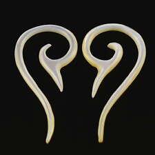 2mm Paar!  Muschel Perlmutt Ohrringe Tunnel Ohr Ear Piercing 253