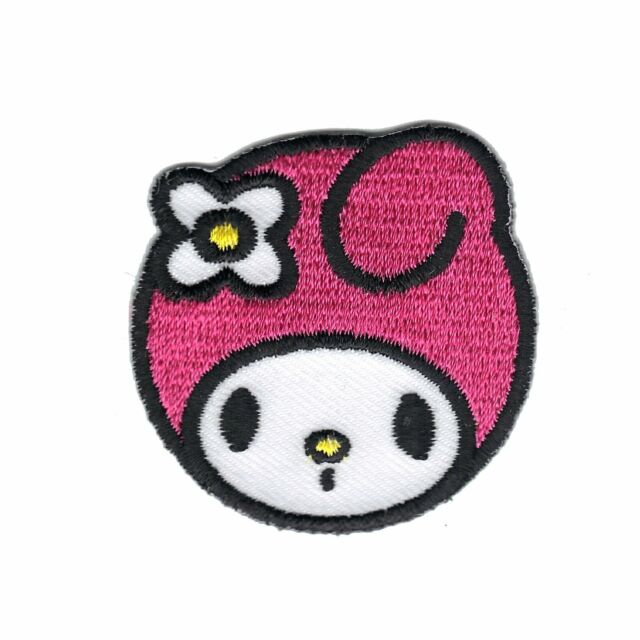 """4/"""" Hello kitty my melody fabric applique iron on character"""