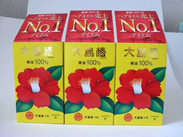 3×JAPAN OSHIMA TSUBAKI 100% Natural Camellia seed Hair Care Oil 60ml