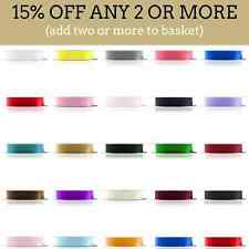92 Metres, Double Sided Satin Ribbon (Full Rolls) 3mm 6mm 10mm 15mm 25mm Widths
