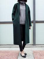Fashion Womens Lapel Wool Blend Long Coat Jacket Trench Overcoat