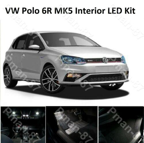 Premium VW Polo 6R 2010-2016 8pc MK5 V LED Interior Upgrade White Xenon Kit