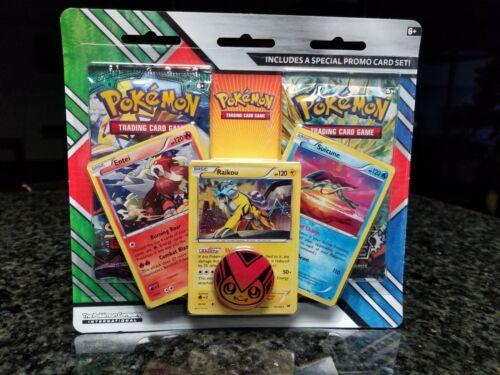 Pokemon TCG Legendary Beasts Blister Pack NEW SEALED 2 Booster Packs /& 3 Holos