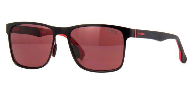 Matte Black 57 mm Carrera Men/'s 8026//s Square Sunglasses
