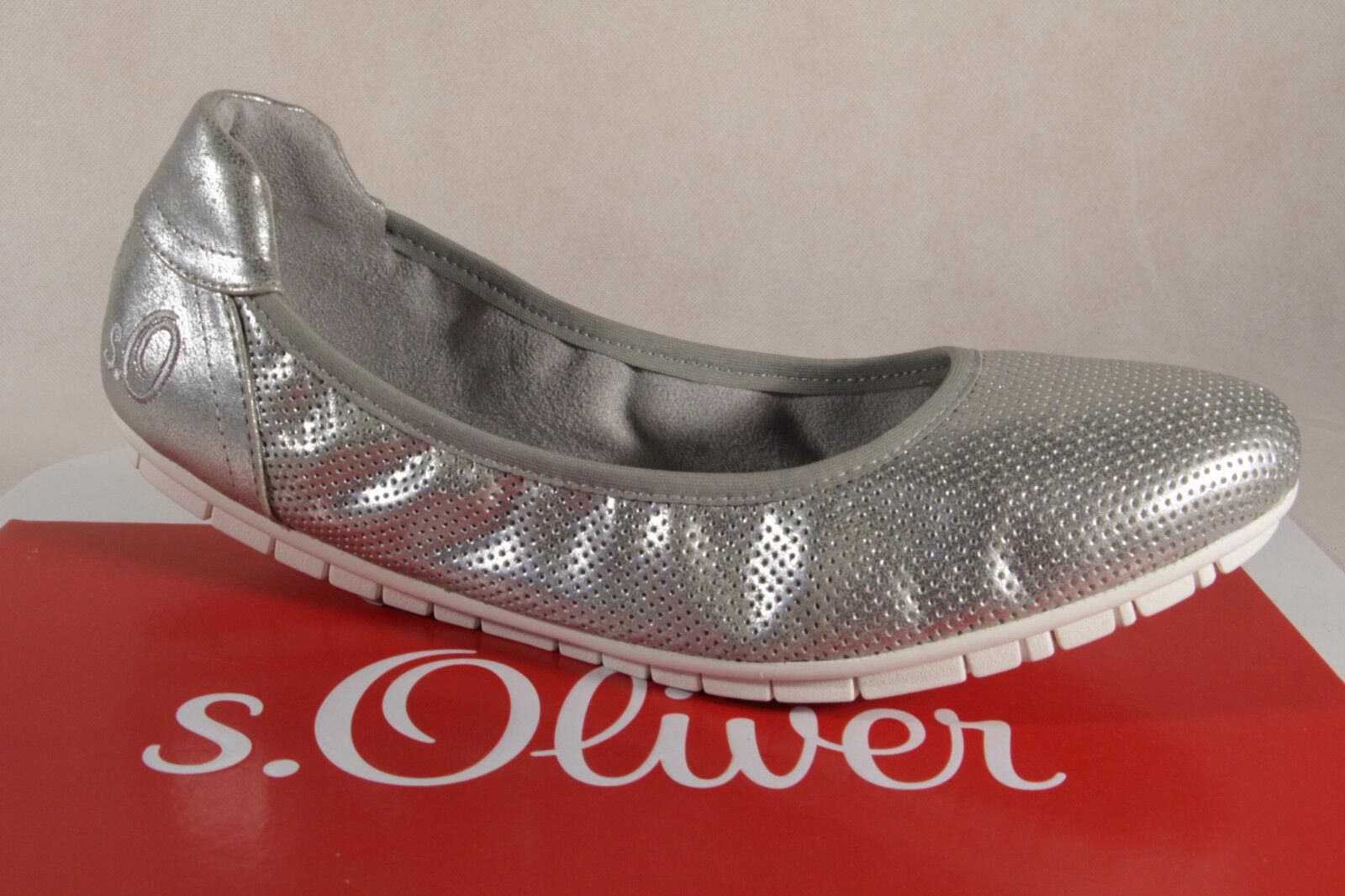 S.Oliver Zapatillas de Bailarina Zapatillas Zapatos Zapatos Zapatos de Tacón Plata Nuevo  tienda
