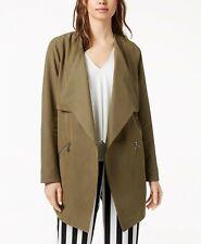 Womens Cascading Jacket Dusty Olive Army Green Coat Size Xxl Bar Iii 99 Nwt