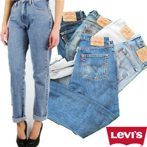 vintage grade a levi levis 501 high waisted mom boyfriend womens jeans 6 12 ebay. Black Bedroom Furniture Sets. Home Design Ideas