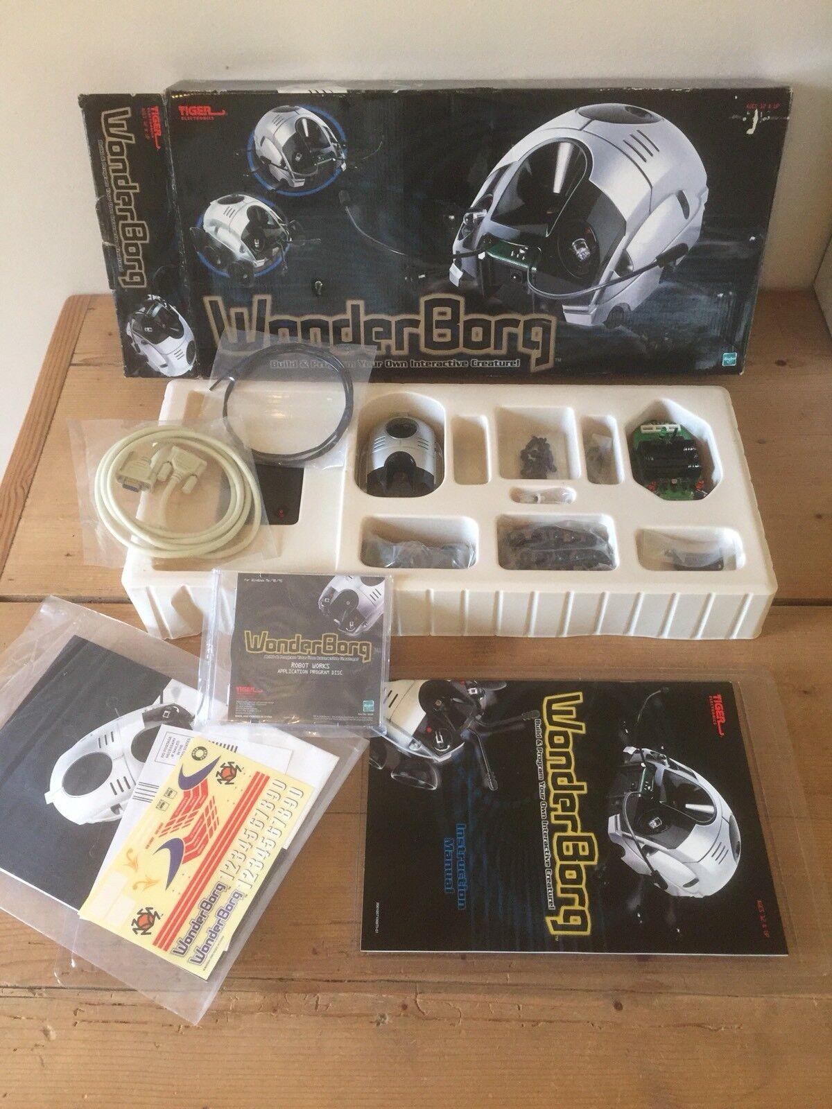 BNIB WONDERBORG Tiger Electronics Build Your Own Robot Bug Set Kit Vintage Retro