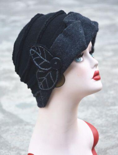 Femme Femmes Vintage 1920 S Gatsby Style Laine Seau cloche Beanies Chapeaux D/'hiver