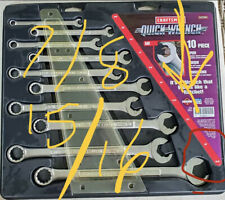 Craftsman 10 Piece 94230 Quick Wrench With Rare 78 And 1516 Original Packaging