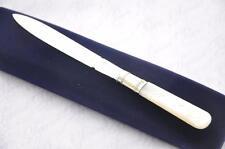 J OXLEY SHEFFIELD STERLING SILVER BLADE LETTER OPENER/PAPER KNIFE 1835