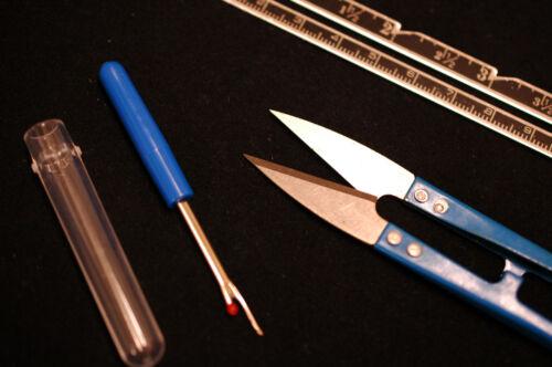 Metal Rule Knitting Seam Ripper Shear Cutters Craft Set 3pc Sewing