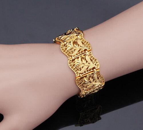 Ccnew 18k plaqué or Femme Bracelet Jonc Dubaï Islamic Fashion Jewelry Charm