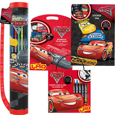 Disney Cars 3 Colouring Set Stickers Pencil Crayons Character Activity Pack Kids
