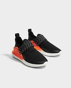 4bb280943a4 Details about NEW Zara Man Z-2 Trainers Black Sock-Style Sneakers Sz 8-  9-10 Athletic Shoes