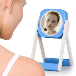 Touch-LED-Espejo-De-Maquillaje-Cosmetico-Doble-Cara-Makeup-Mirror-USB-Recargable