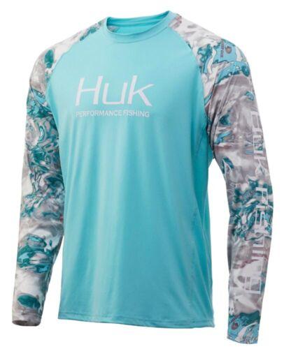 Huk Men/'s Mossy Oak Hydro Shallows Double Header XXX-Large Long Sleeve Shirt