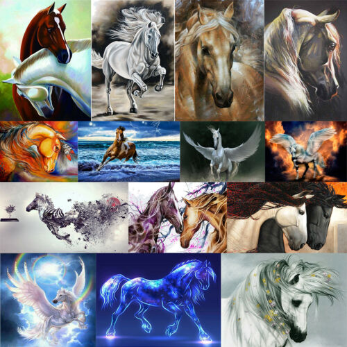 5D DIY Full Drill Diamond Painting Horse Cross Stitch Kit Embroidery Crafts Gift