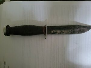 VINTAGE IMPERIAL USA BOWIE KNIFE HUNTING SKINNING SURVIVAL FIGHTING DAGGER USA
