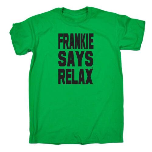 Divertenti Novità T-Shirt UOMO Tee T-Shirt-SOLID BLACK Frankie Says Relax