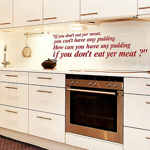 PINK-FLOYD-Letras-If-You-no-comer-Yer-CARNE-Frase-Pared-Cocina-Comedor-Vinilo