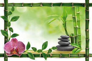 ... Sticker Mural Trompe L 039 Oeil Deco Bambou