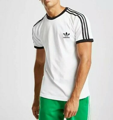 Adidas Originals 3 Stripes California T Shirt WhiteBlack Mens Size Small | eBay