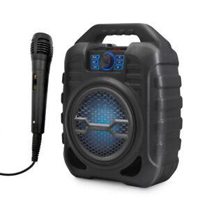 Pure Acoustics Portable Bluetooth Wireless Speaker Karaoke/FM Radio/USB/SD w/Mic