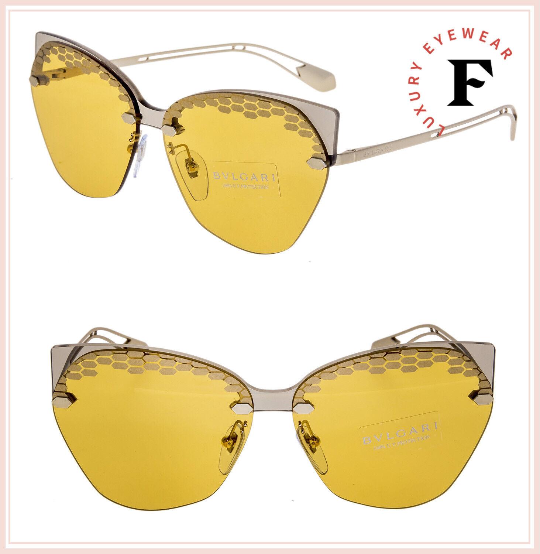 BVLGARI SERPENTI Scalesbeat BV6107 Gold Yellow Scales Metal Sunglasses 6107