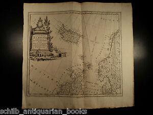 1774 HUGE MAP of British Isles Europe ICELAND Scandinavia Arctic