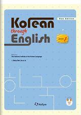 Korean Through English 1 with MP3 CD Text Book Learn Study Korea Language Hangul